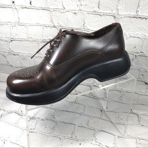 Dansko brown leather Oxfords 38